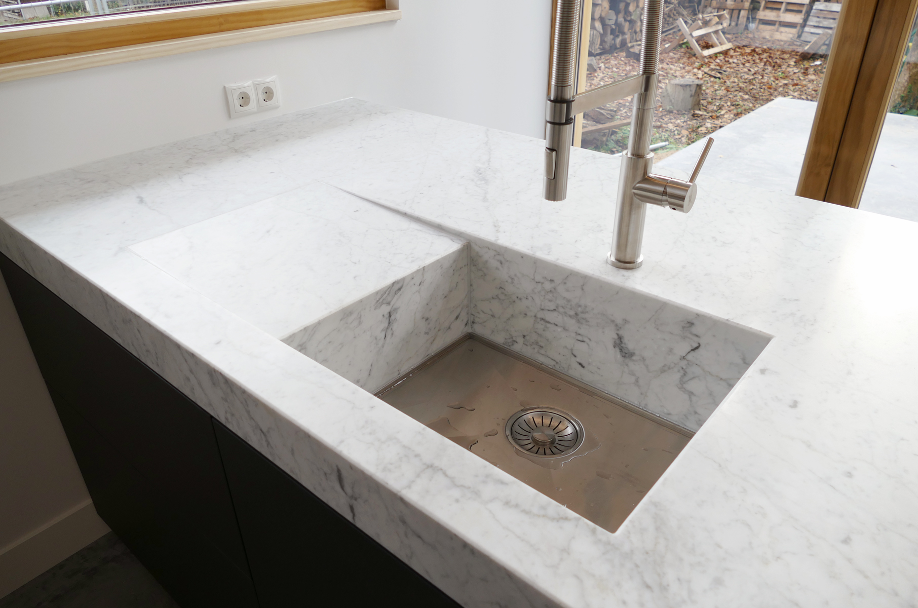 Keuken Bianco Carrara Gezoet